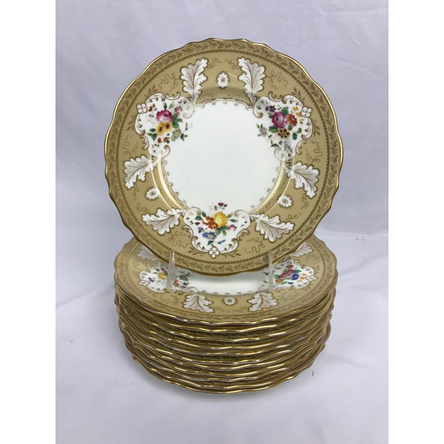 """Cauldon England for Tiffany New York 9"""" Dinner/Luncheon Plates - Set of 12 For Sale - Image 9 of 9"""