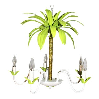 Vintage palm tree tole chandelier 1910aspectfitwidth320height320 vintage palm tree tole chandelier aloadofball Choice Image