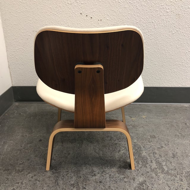 2010s Mid-Century Modern Herman Miller Eames Upholstered Molded Plywood Dining Chair For Sale - Image 5 of 11