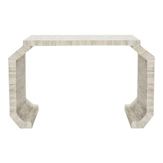 Natural Bone Console Table with faceted legs by Worlds Away