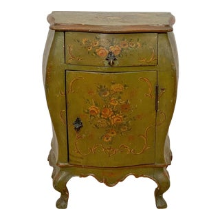 Venetian Painted Bedside Cabinet, Italy Circa 1900 For Sale