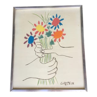 "1960s Vintage Picasso ""Hands With Flowers"" Print For Sale"