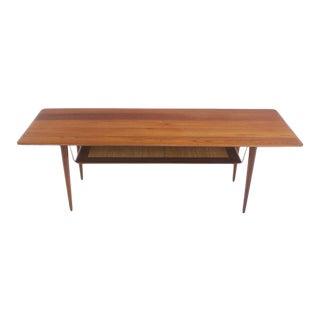 Scandinavian Modern Solid Teak Coffee Table Designed by Peter Hvidt For Sale