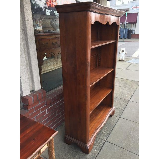 Large Solid Walnut Bookcase - Image 6 of 6