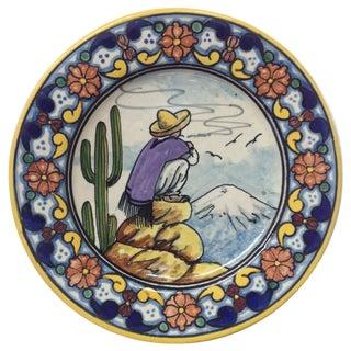 Casa Rugerio Mid-Century Puebla Plate For Sale