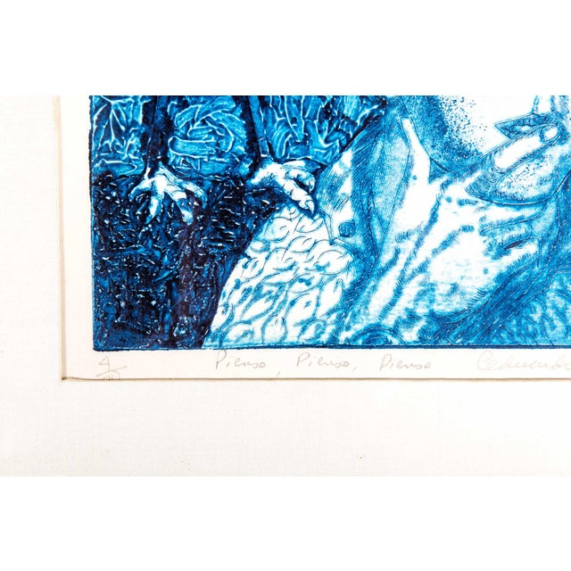 """Wood Late 20th Century Numbered """"Pienso"""" Drawing For Sale - Image 7 of 13"""