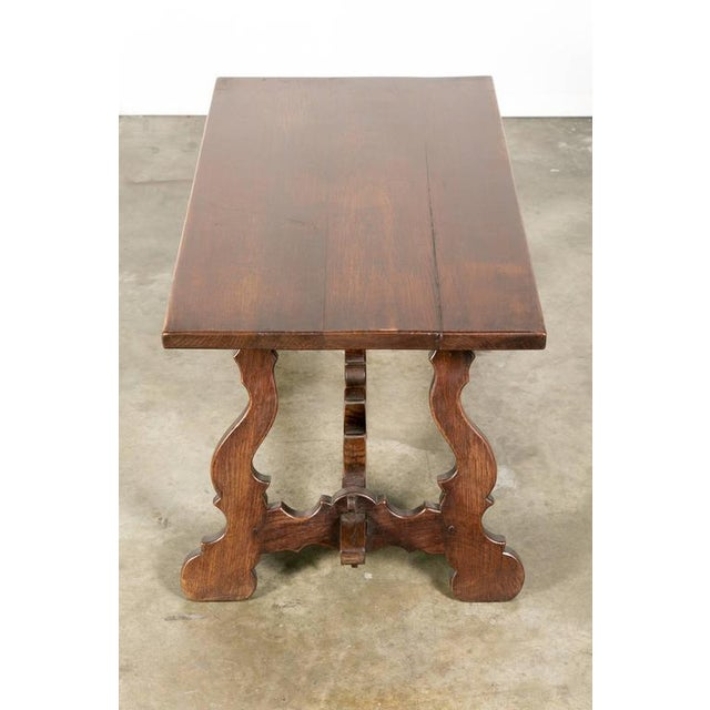 Brown Antique Spanish Colonial Style Oak Coffee Table For Sale - Image 8 of 10