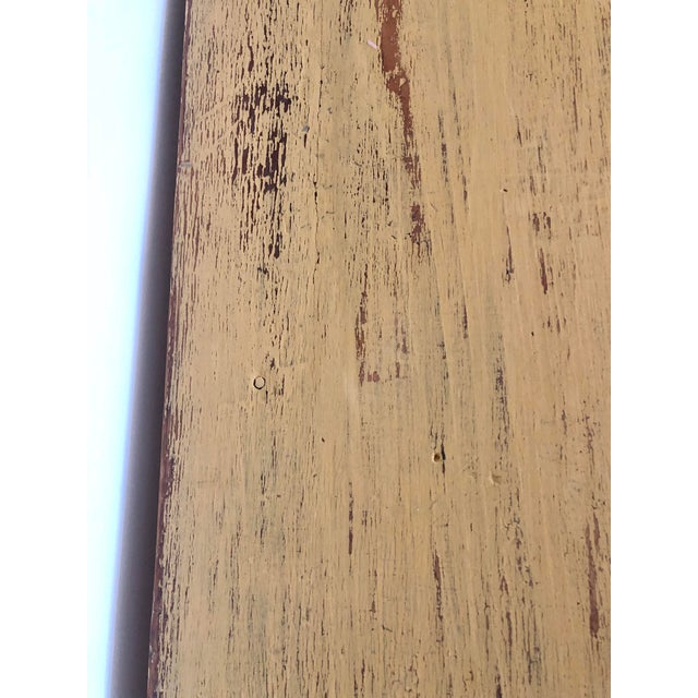 Wood Antique Distresses French Style Farm Table For Sale - Image 7 of 11