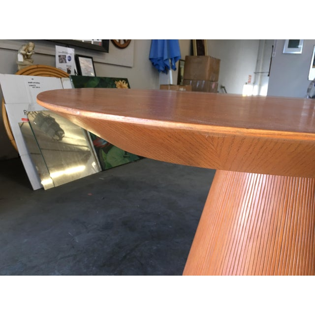 "1960s High Style Guitar Pick Shaped ""Knife Edge"" Dining Room Table With Tapered Base For Sale - Image 5 of 8"