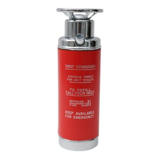1950s Red Fire Extinguisher Style Decanter For Sale