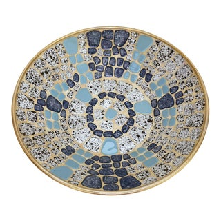 Vintage Mosaic Tile Bowl For Sale
