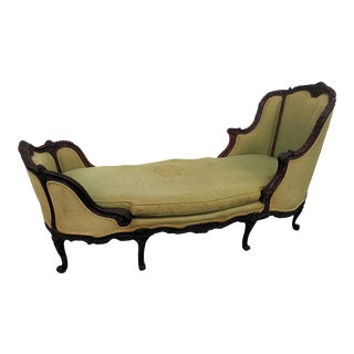 Early 20th Century Jansen Paris Regency Style Chaise Lounge For Sale