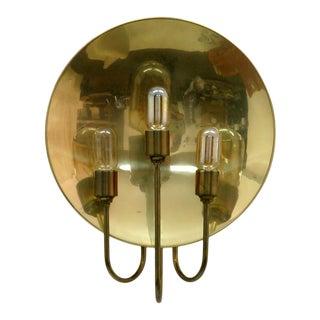 1960s Florian Schulz 'W185' Brass Wall Light For Sale