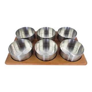 1970s Danish Modern Stelton Condiment Caddy - Set of 7 For Sale