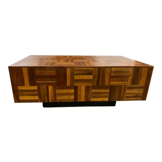 Parquet Mid-Century Modern Coffee Table For Sale