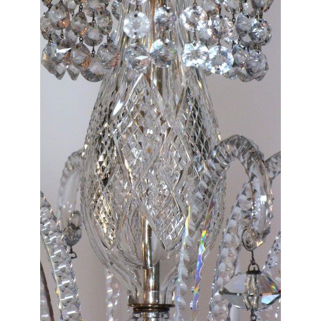 Six Light Large Crystal Chandelier For Sale In Boston - Image 6 of 8
