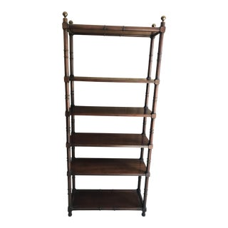 Faux Bamboo Shelving Stand