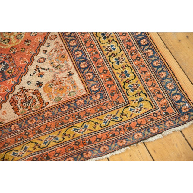 """Antique Qashqai Rug - 4'11"""" X 6'4"""" For Sale - Image 9 of 13"""