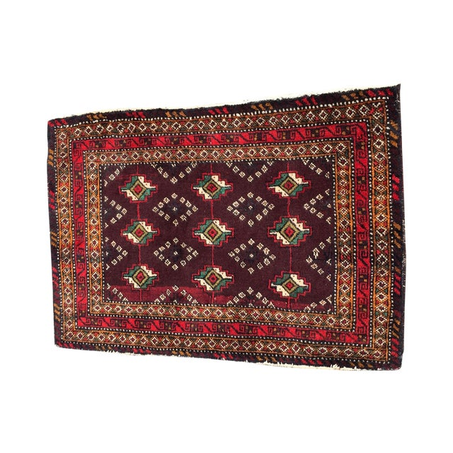 Red Patterned Persian Rug - 1′11″ × 2′9″ - Image 1 of 7