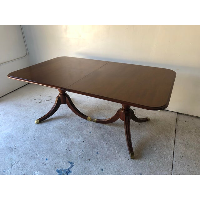 Thomasville Dining Table Fruitwood 112 X 45 Excellent For Sale - Image 10 of 12