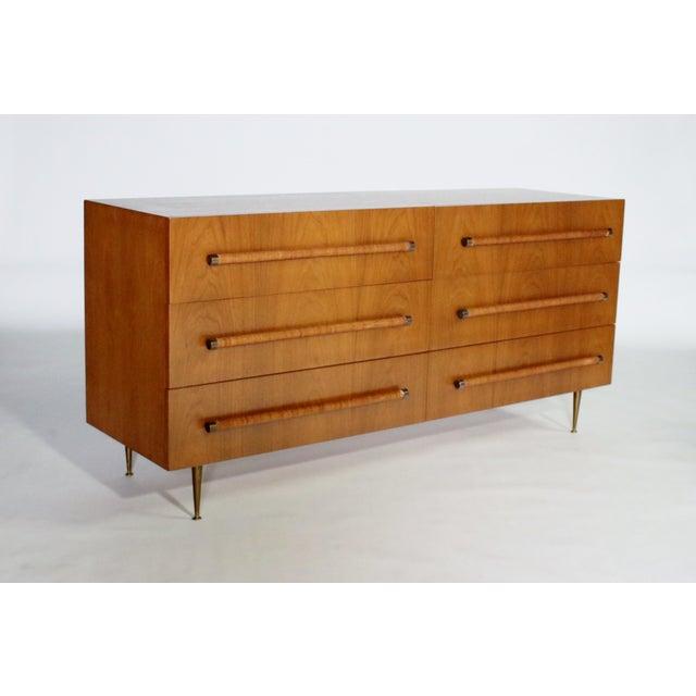 t.h. Robsjohn Gibbings Six-Drawer Dresser for Widdicomb For Sale - Image 9 of 9