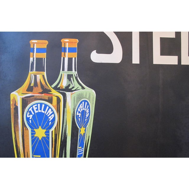 1930s Original French Advertisement Poster - Alcohol Poster - Stellina For Sale - Image 4 of 10