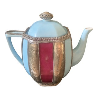Limoges Martine Goron Porcelain Teapot For Sale
