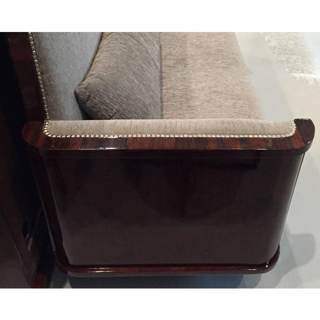Textile Circa 1930 French Art Deco Macassar Sofa For Sale - Image 7 of 10