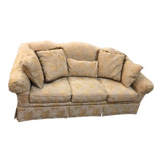 Victorian Style Gold Embroidered Sofa For Sale
