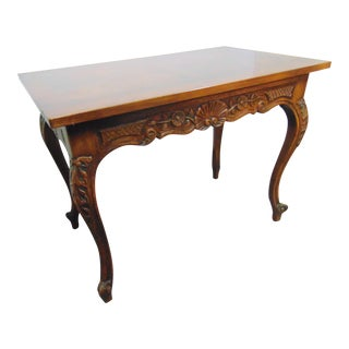 Louis XV Country French Oak Carved Center Table For Sale