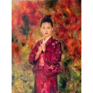 """""""Kimono"""" Oil Painting on Canvas by Aike Beer For Sale"""