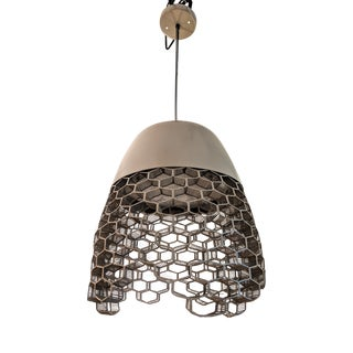 Oggetti High Boy Pendant Light Honeycomb Metal Wire Work For Sale