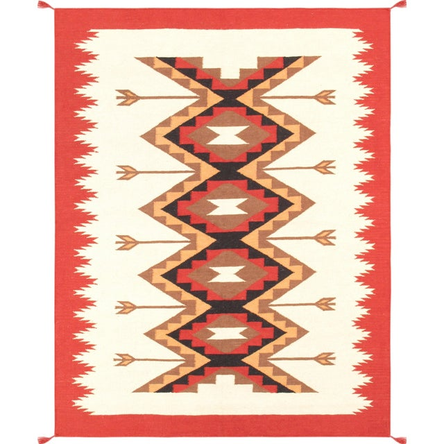 "Navajo Decorative Hand-Woven Rug - 5'3"" X 6'11"" - Image 1 of 3"