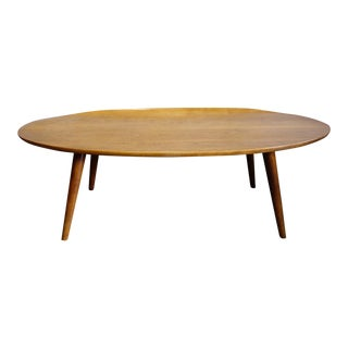 Mid-Century Russel Wright Elliptical Coffee Table With Raised Edge For Sale