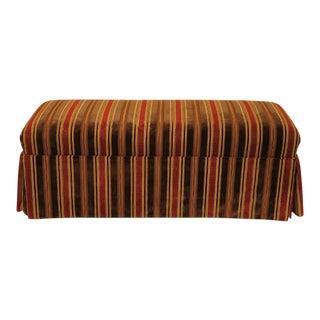 2000's Custom Upholstered Window Bench For Sale