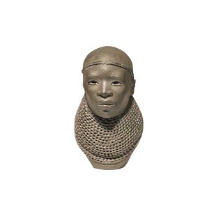 Small Clay Head by Ben Apollo For Sale