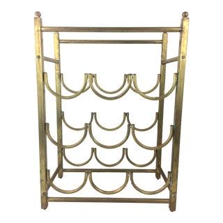 Vintage Brass Neoclassical Wine Rack