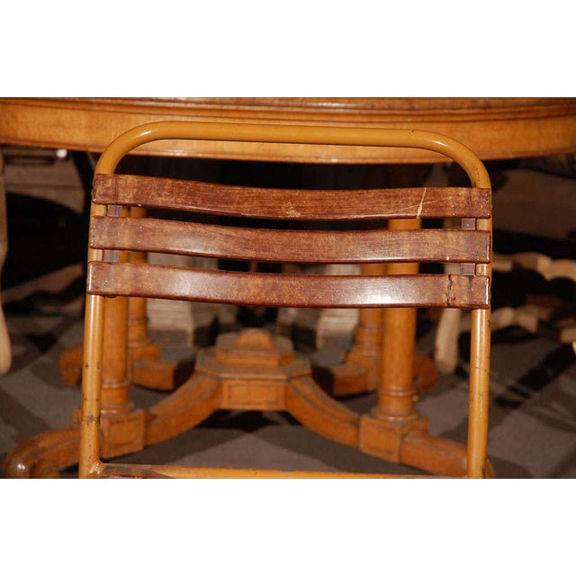 Painted Bakelite Slat Stacking Chairs, England, circa 1940 For Sale - Image 4 of 11