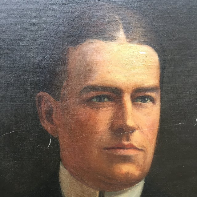 Portrait of Stately Business Man, Early 1900's For Sale - Image 9 of 11