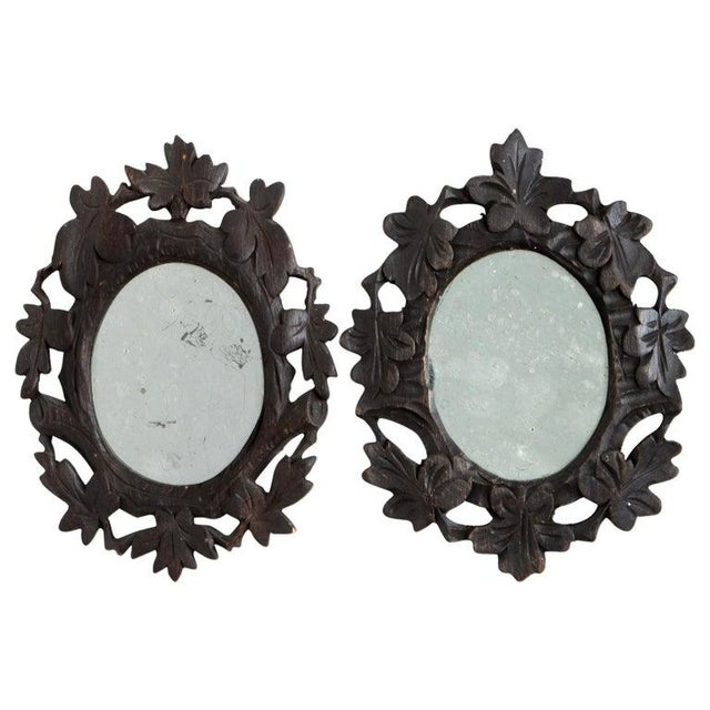 1920s 1920s Black Forest Mirrors - a Pair For Sale - Image 5 of 5