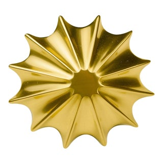 Solar Cabinetry Knob - Satin Brass For Sale