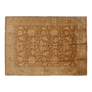 "Vintage Gold Wash Indian Oushak Design Carpet - 10'2"" X 14' For Sale"