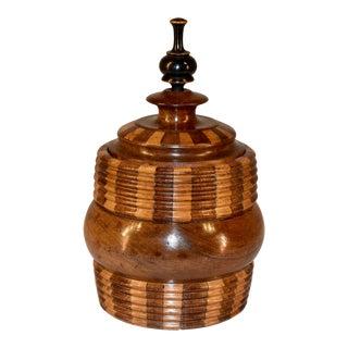 19th C. Treen Lidded Jar For Sale