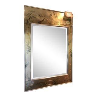La Barge Chinoiserie Brass Wall Mirror