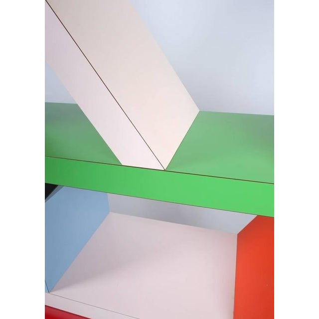 Italian Carlton Bookcase Roomdivider by Ettore Sottsass for Memphis, 1981 For Sale - Image 3 of 6