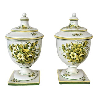 Vintage Italian Urns - a Pair For Sale