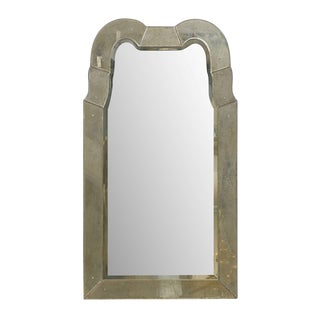 "The ""Queen Anne"" Venetian Style Mirror With Double Hooded Crest, Hand Silvered For Sale"