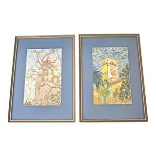 Original Paintings by Helene Beggs - a Pair For Sale