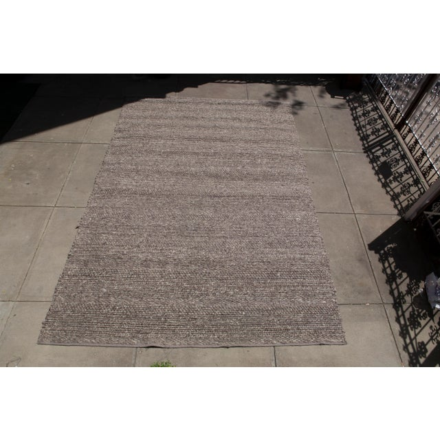 Hand Woven Brown Wool Rug - 9' x 13' - Image 2 of 6
