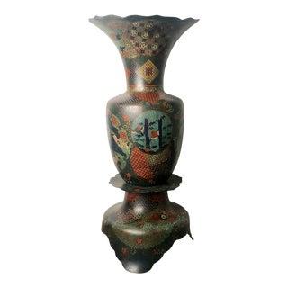 Japanese Cloisonne Vase Circa 1880 For Sale